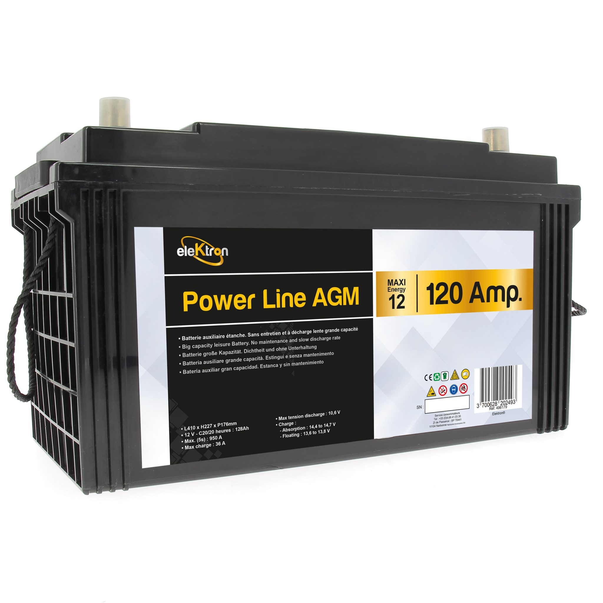 Bateria AGM POWERLINE 120 ah