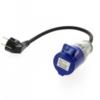 ADAPTADOR HEMBRA CON CABLE CAMPING 16A 6H 220-250V