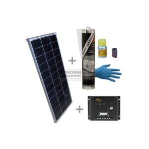 PACK Solar 170W + MPPT ReguladoR + Kit de Pegamento